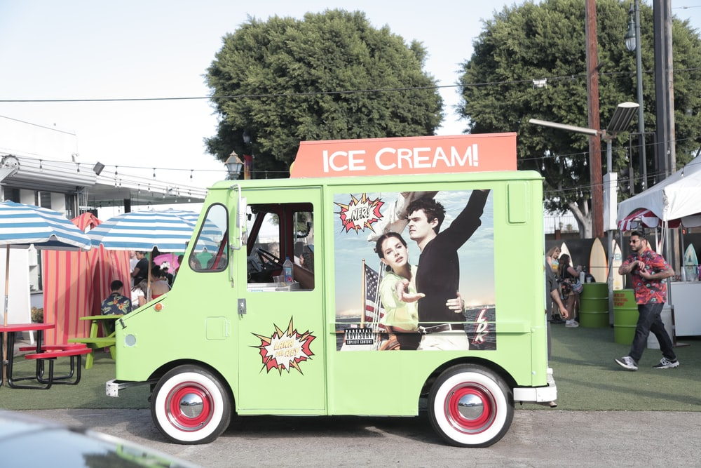 green Ice Cream van