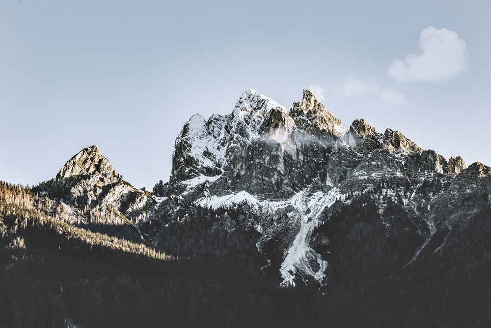 mountain with snow cap during daytime