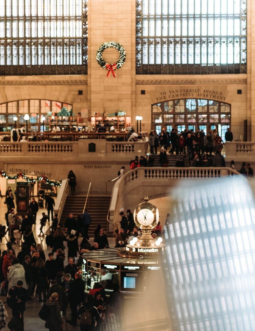 people inside New York building