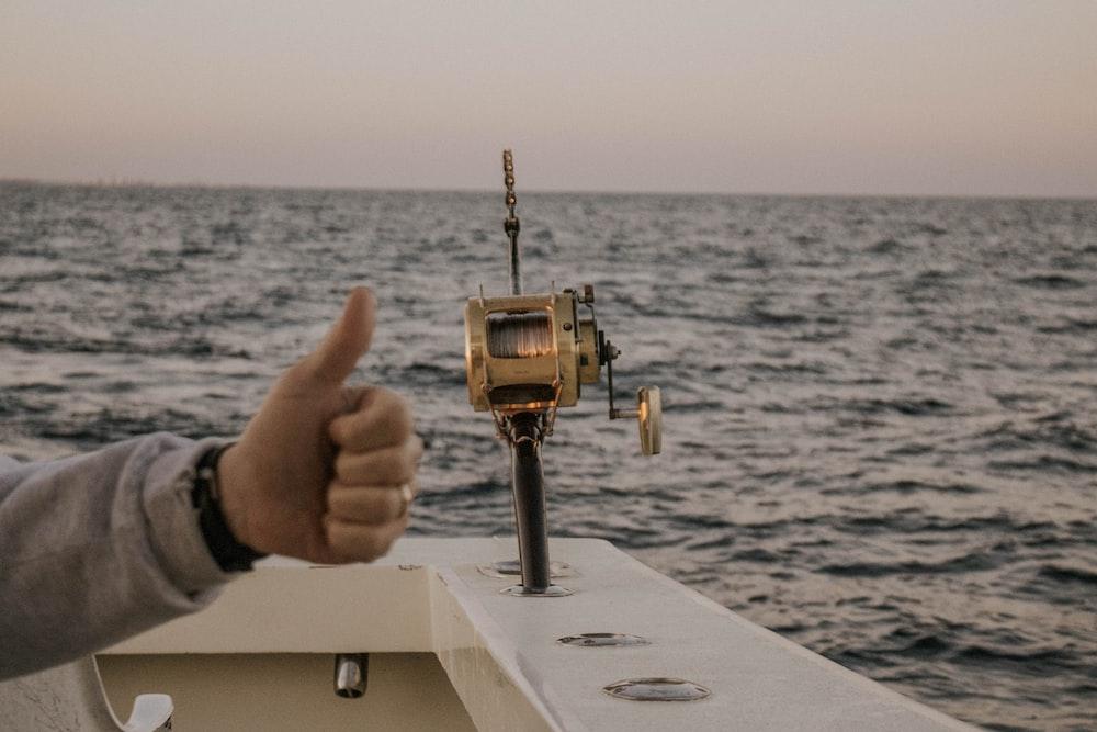 brown fishing rod