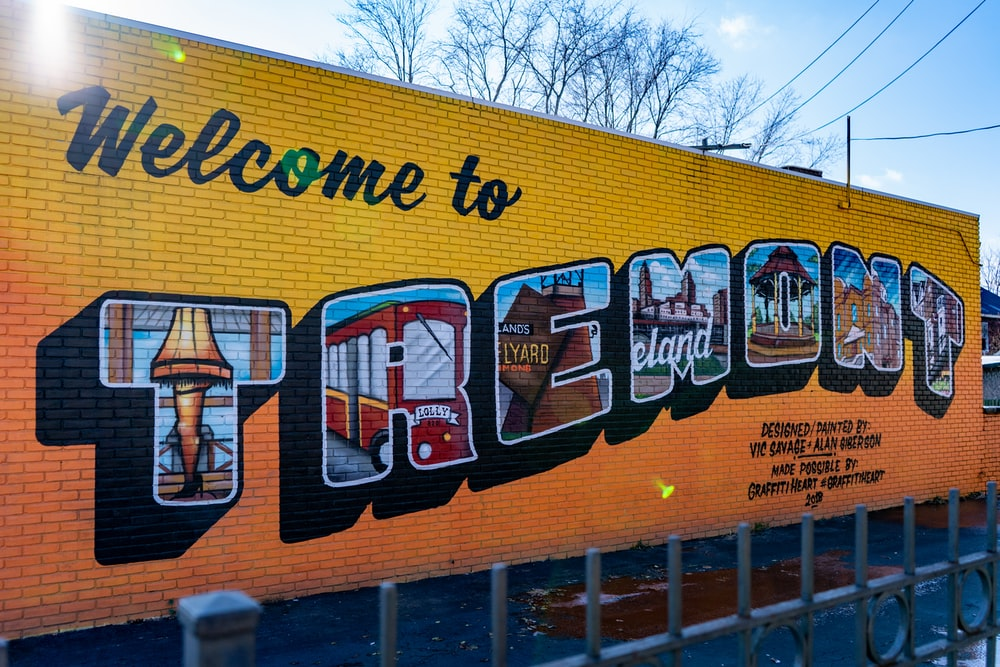 Welcome to Tremont painting on wall
