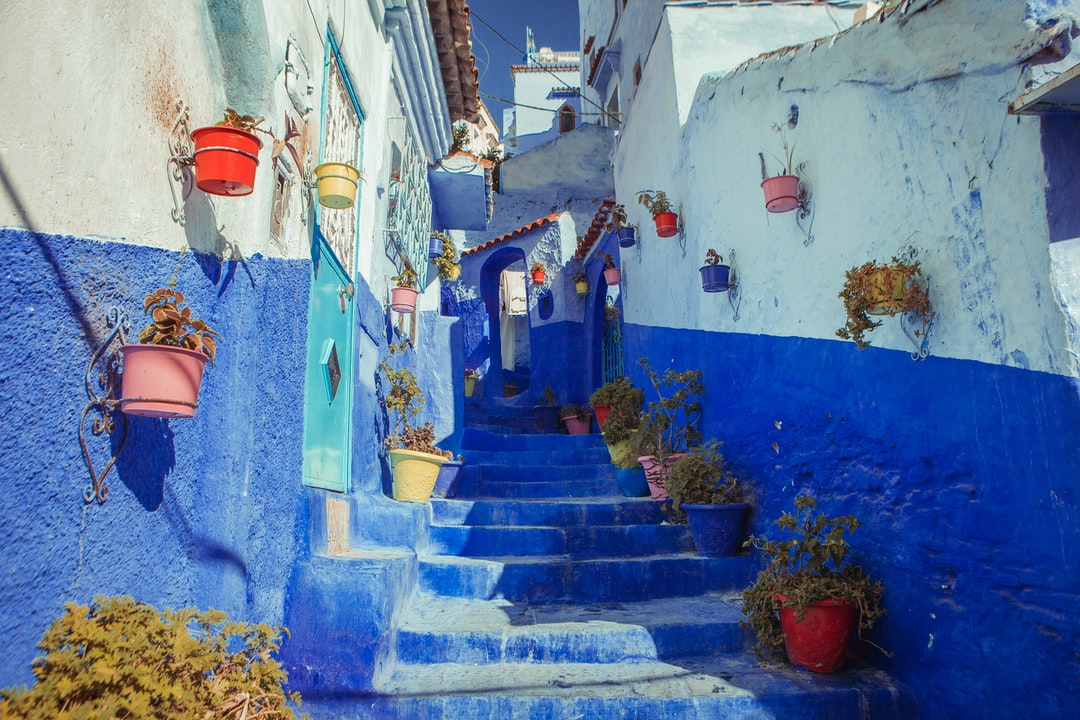 Blue Concrete Alley Stairs - unsplash