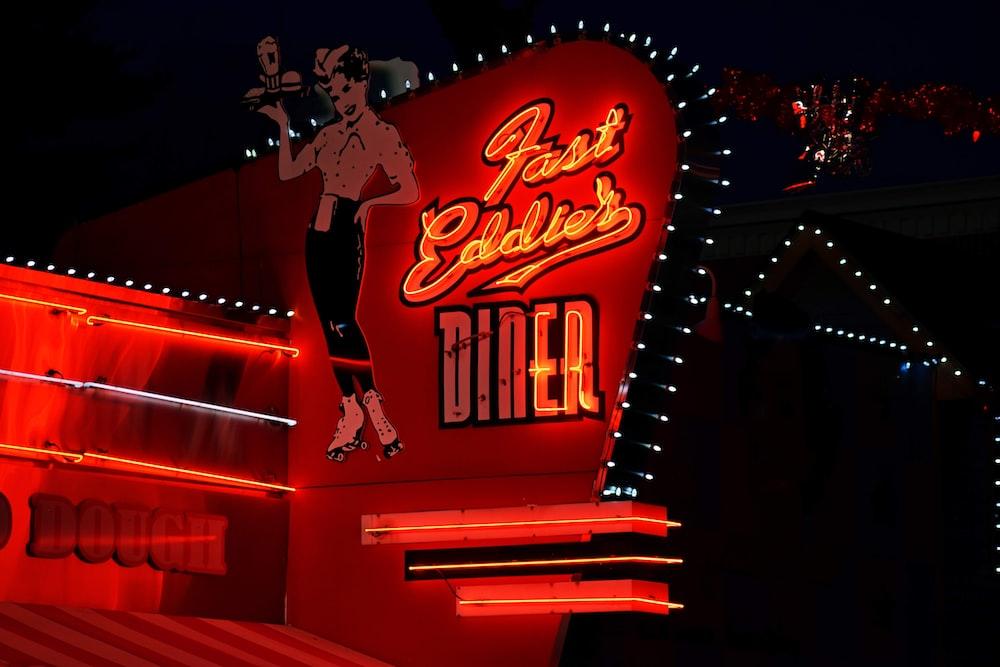 Fast Eddies Diner LED signage