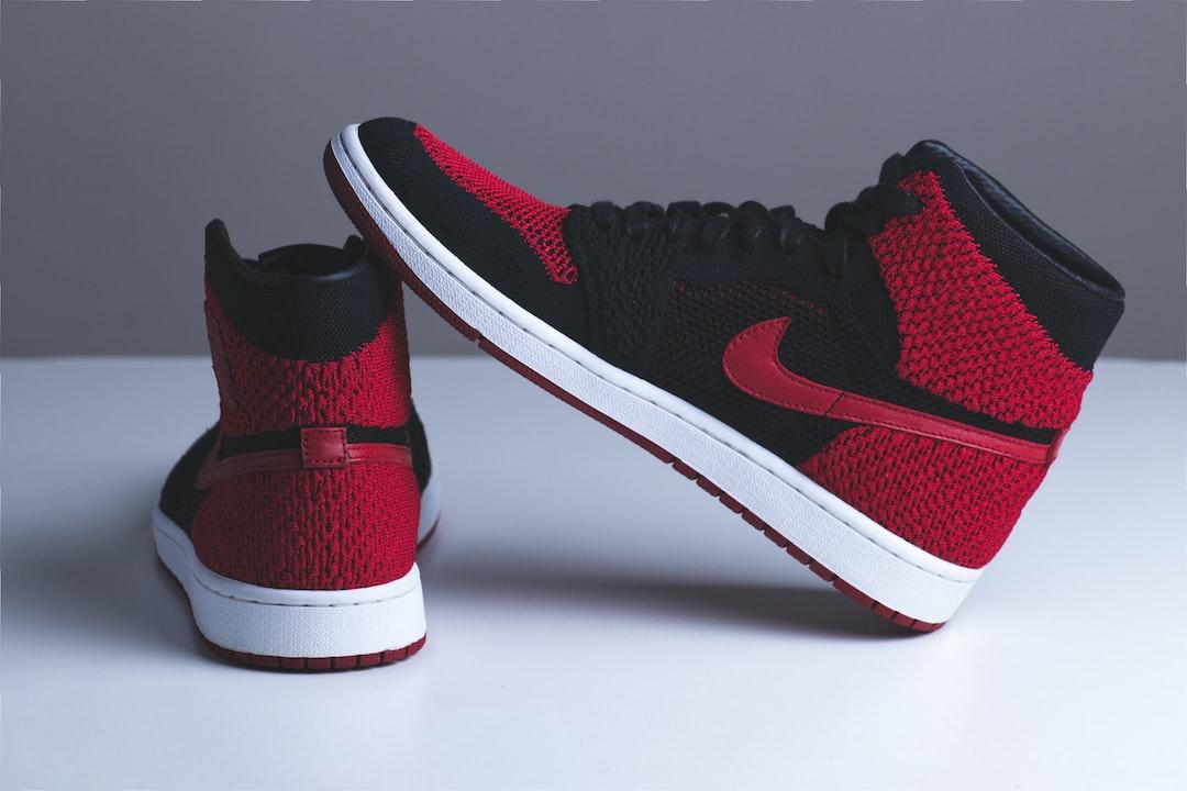 Pair of Red and Black Nike Sneakers - unsplash