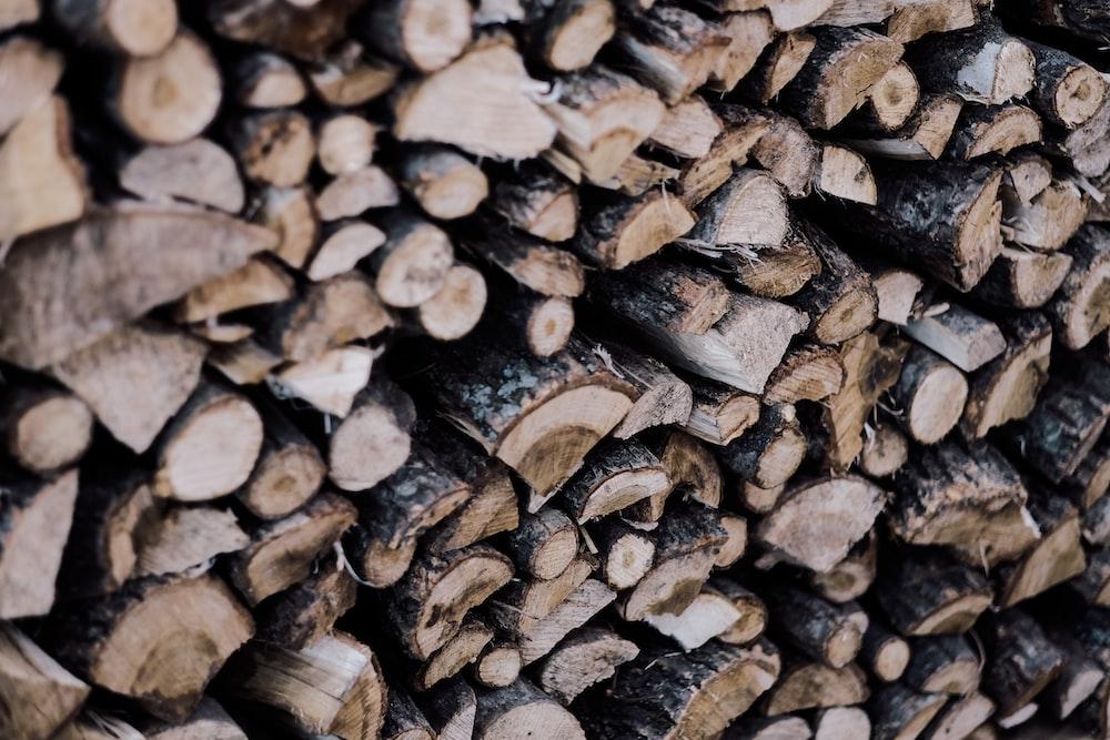 brown wooden firewoods