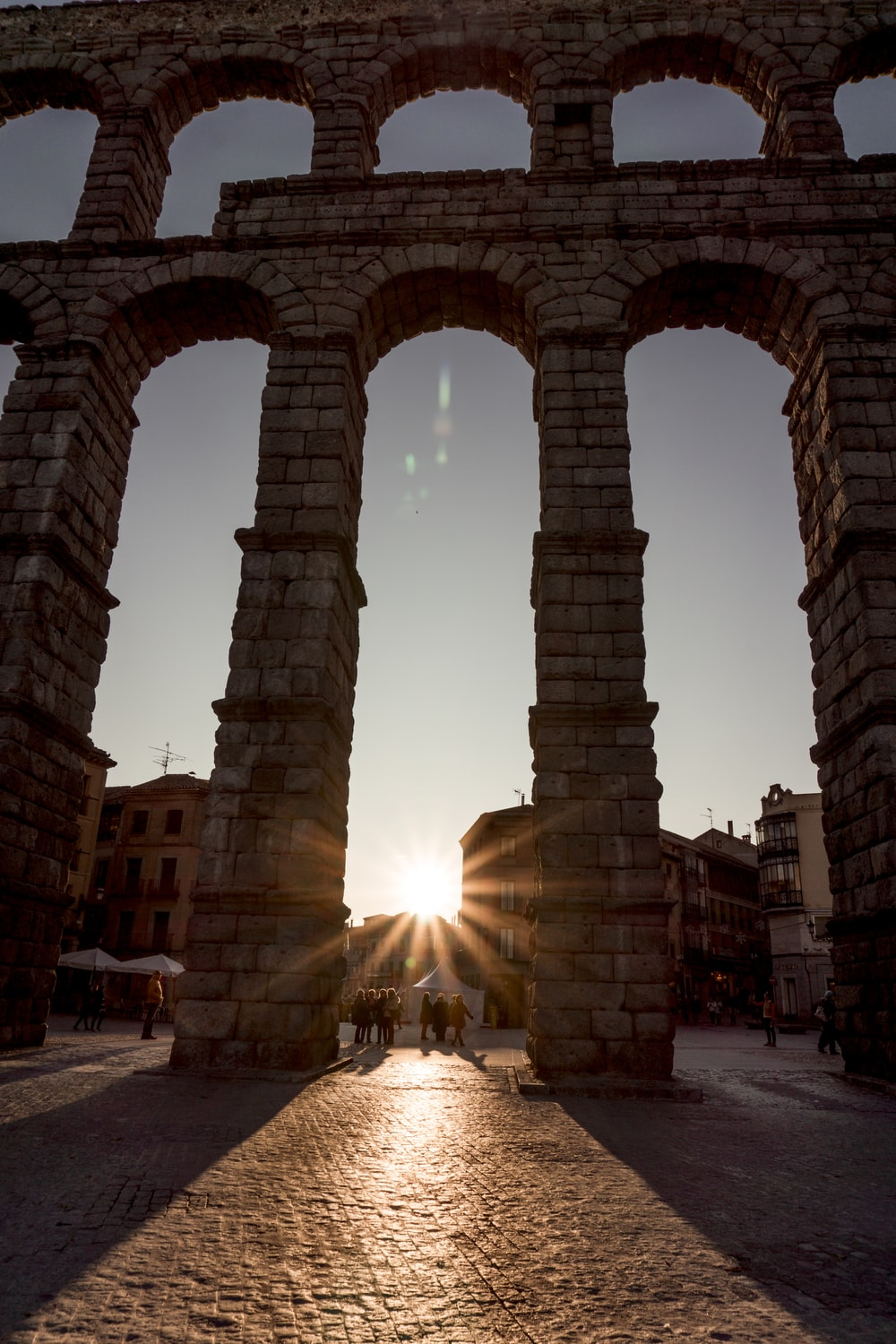 silhouette of arch