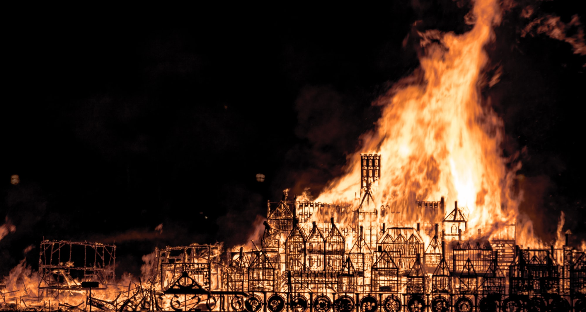 Reenactment of the 1666 Great fire of London