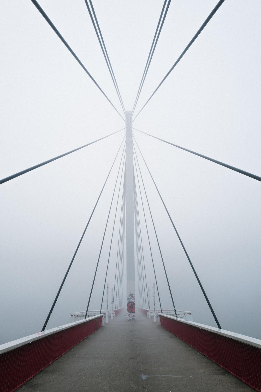 portrait photography of a bridge