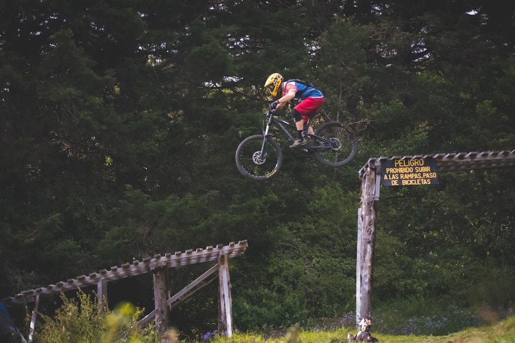biker on trail