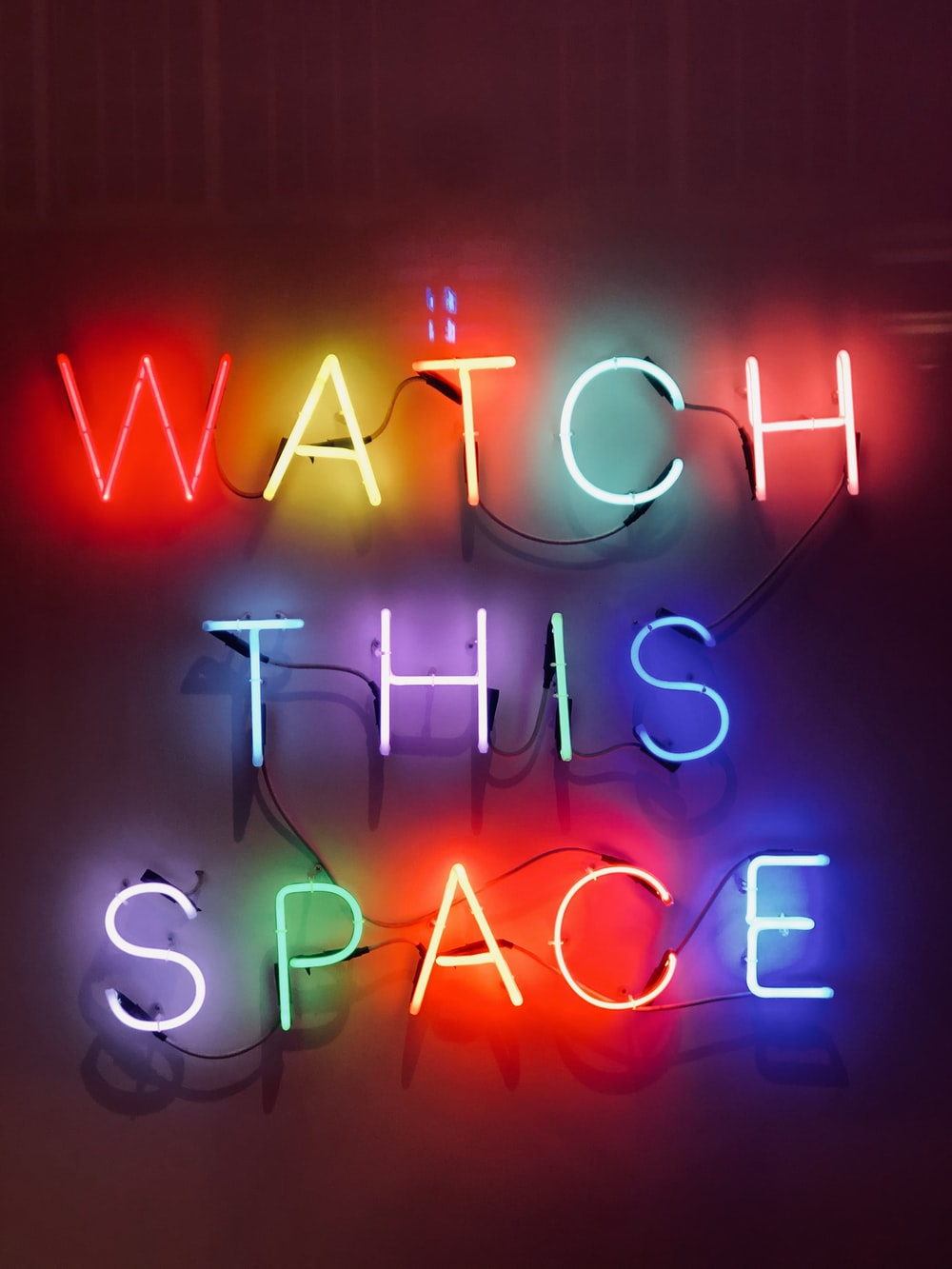 watch this space neon sign