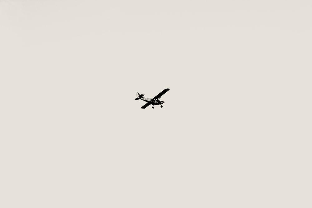 flying plane during daytime