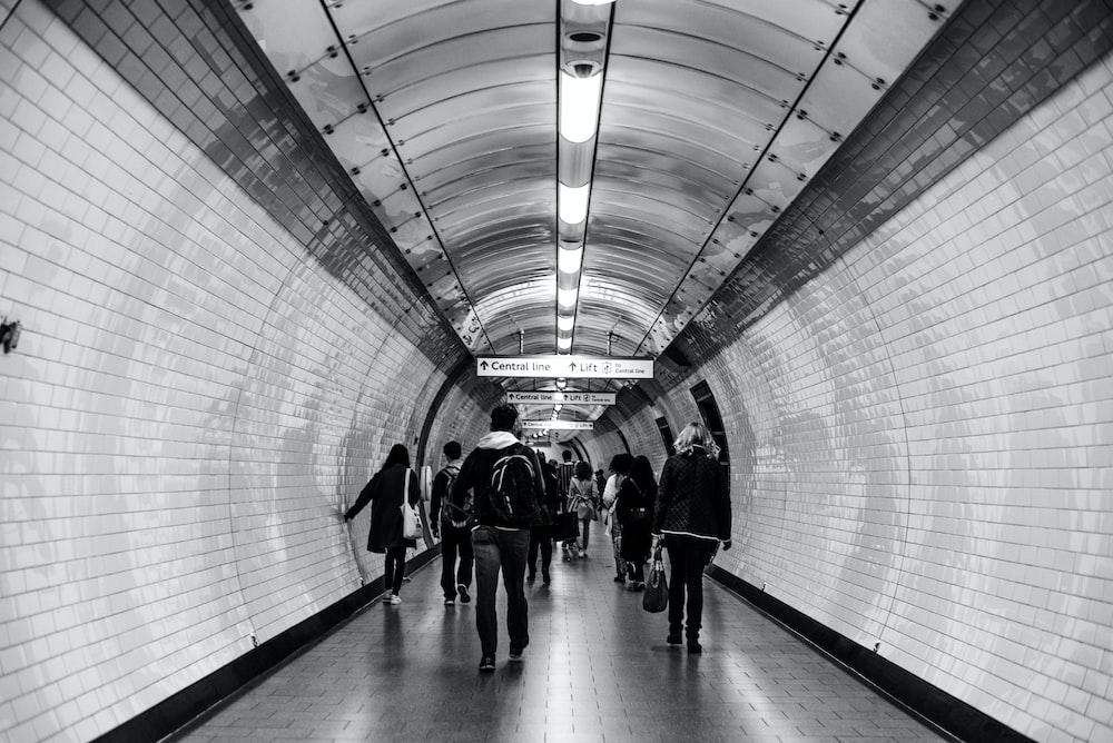 people inside tunnel