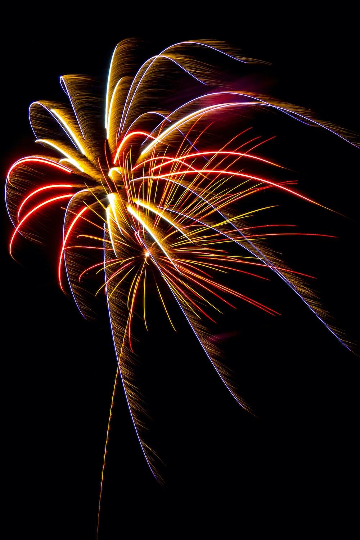 fireworks during night