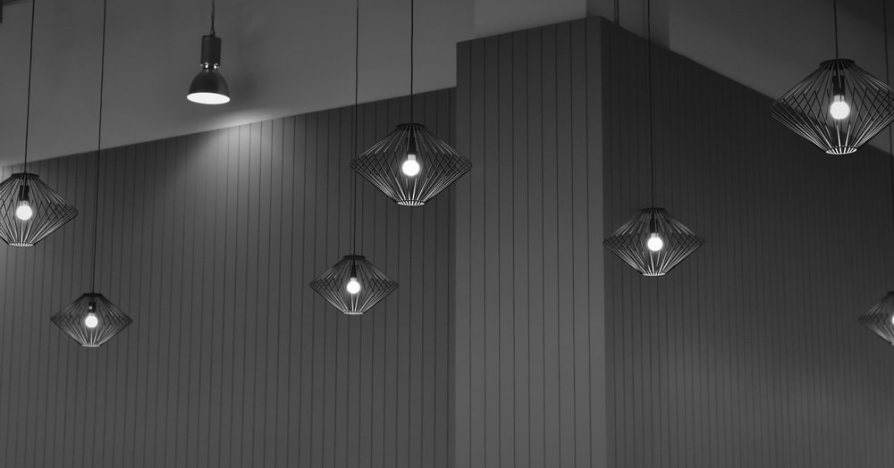 turned-on pendant lamps