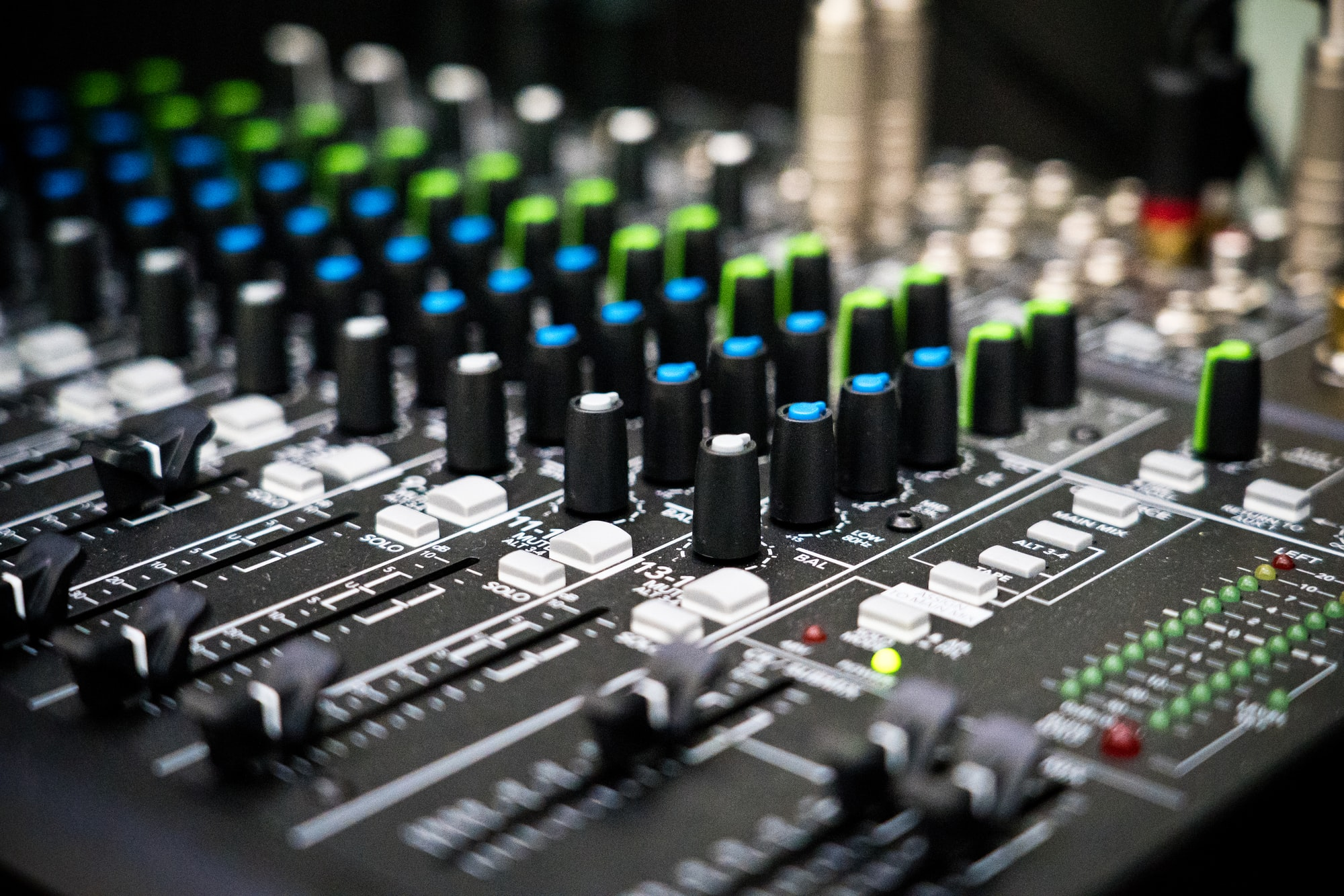 Audio mixer equipment.
