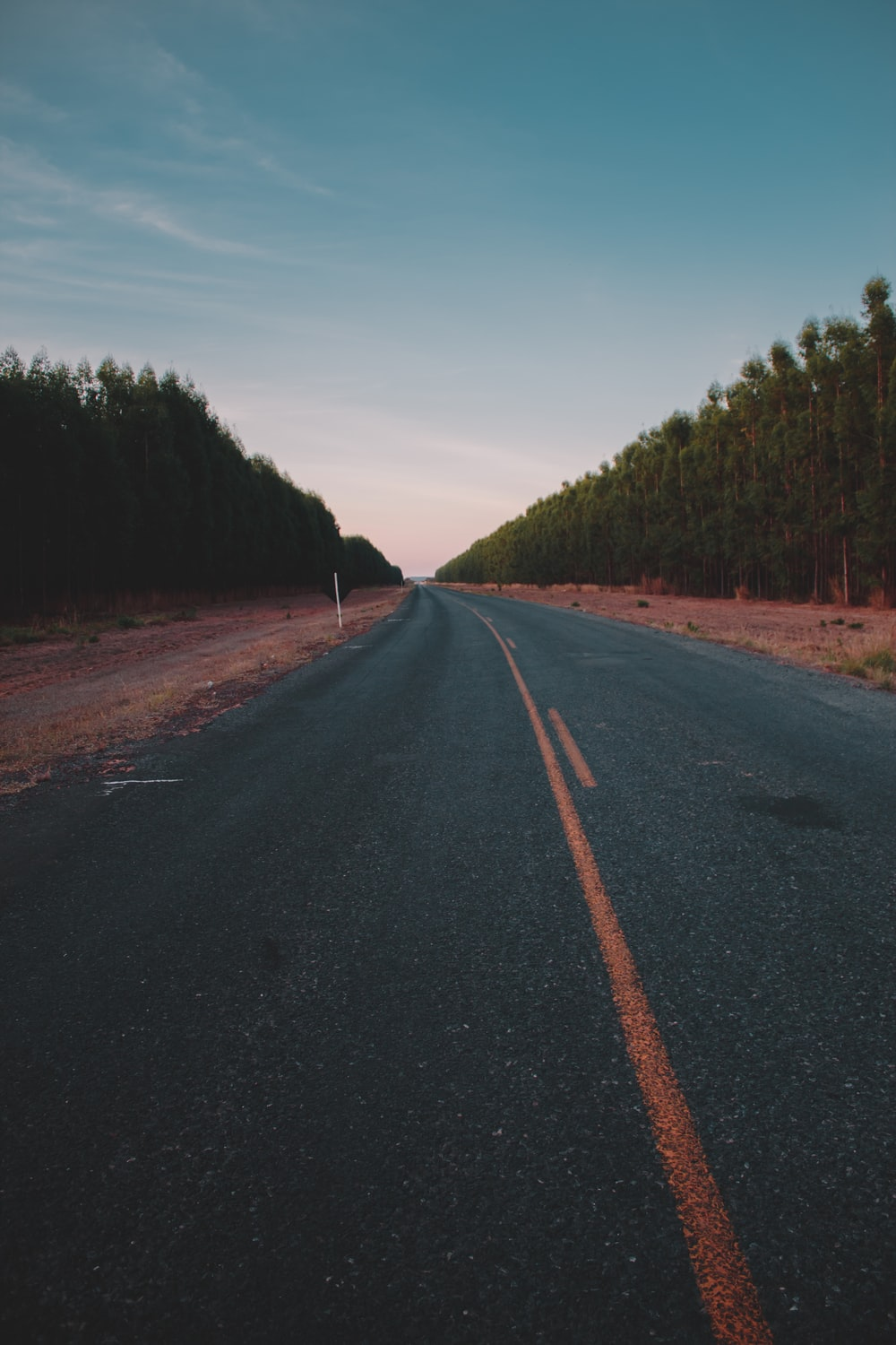 photography of empty road during daytime