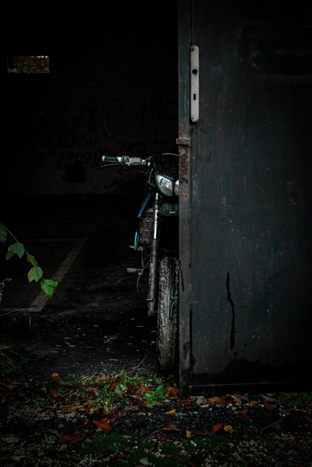 parked bike near door