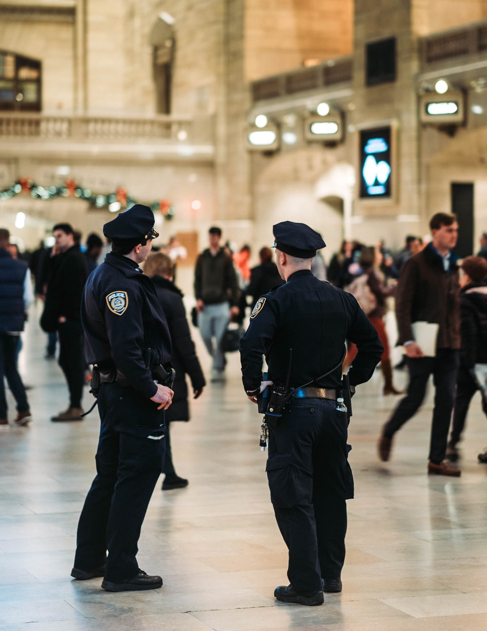 police officers in station