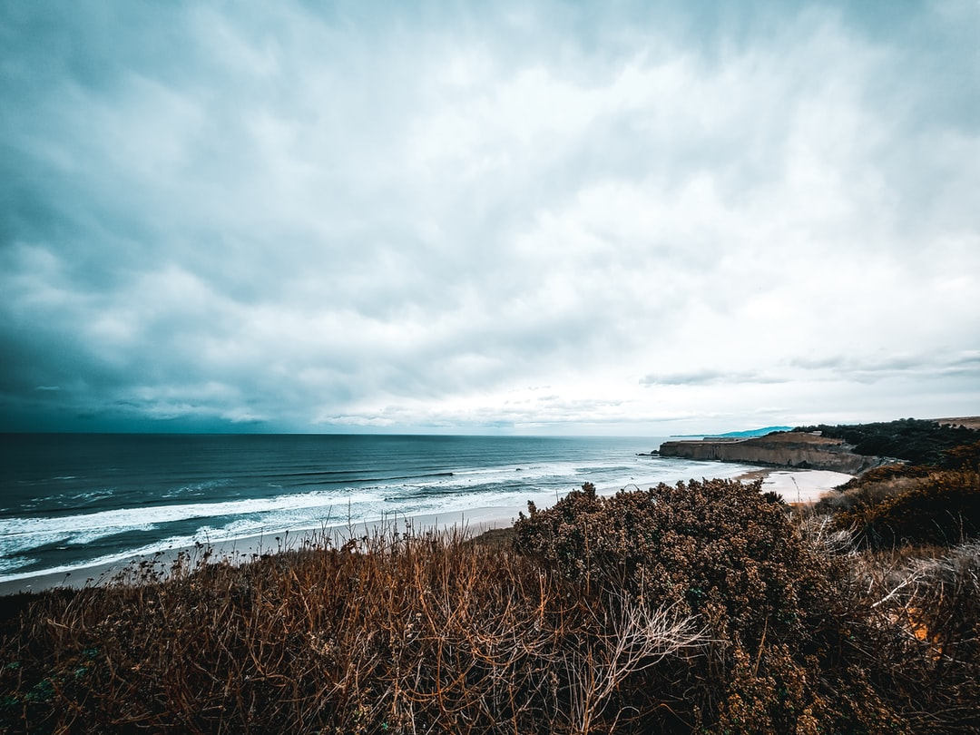 A view of the beach in Half Moon Bay.