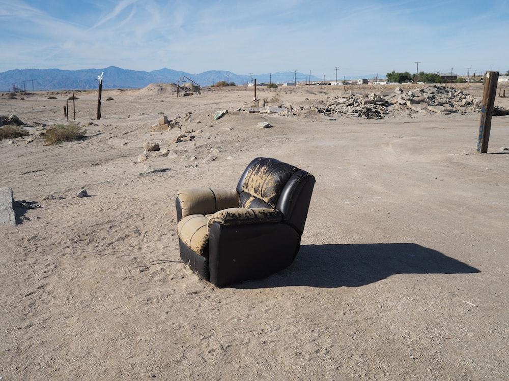 empty recliner sofa