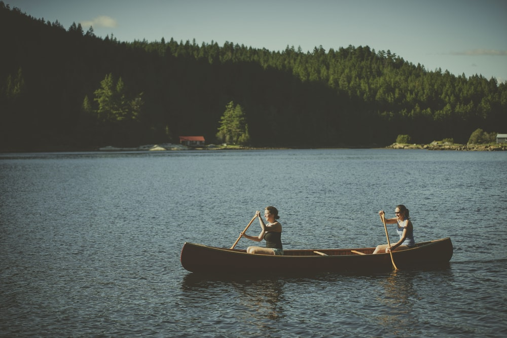 two persons on boat