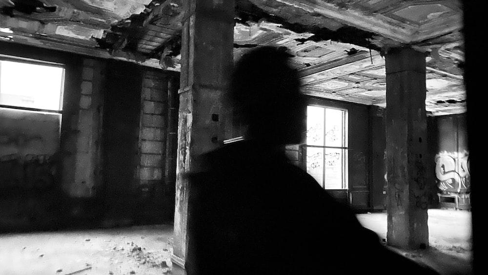 man inside building