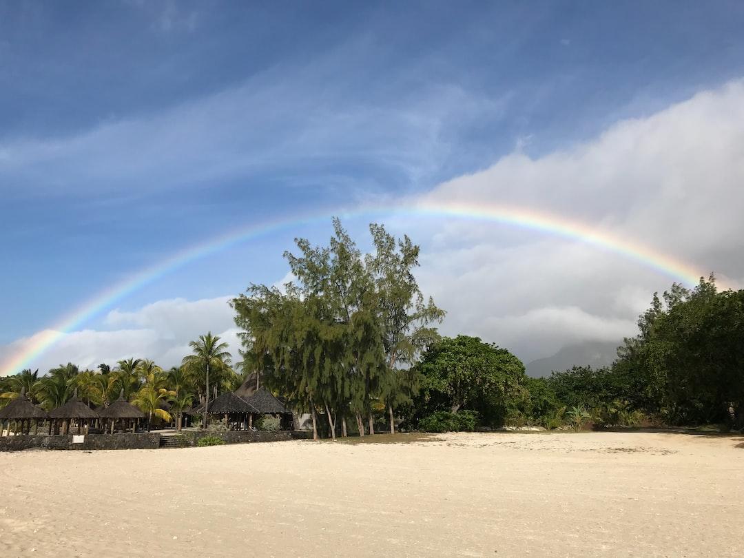 Rainbow at Le Morne #shotoniPhone