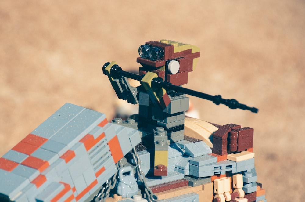 multicolored Lego toy