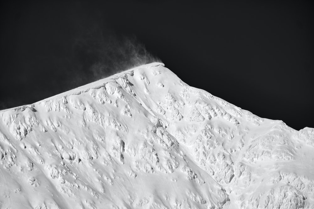 summit view of mountain covered with snow