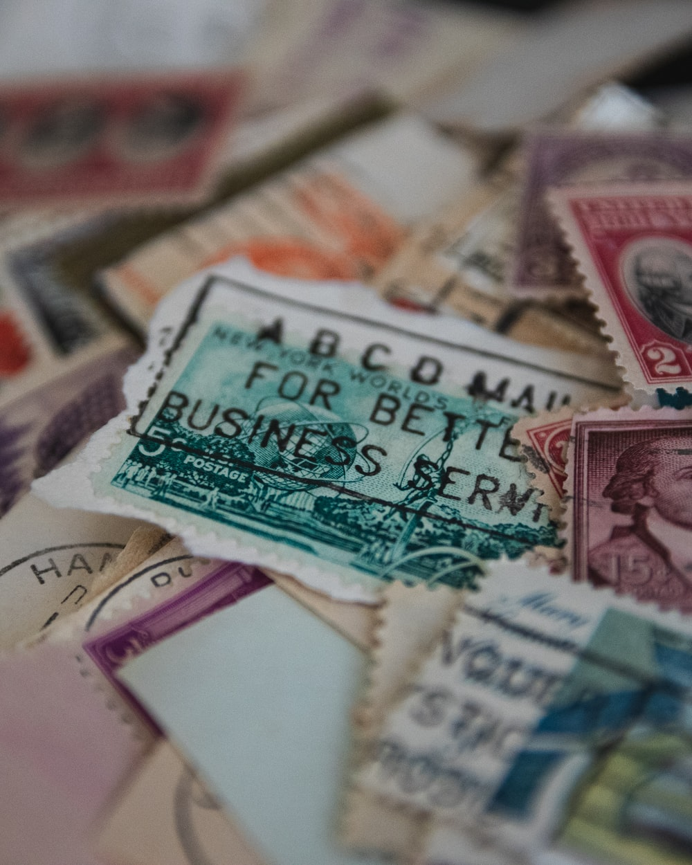 assorted postage stamps