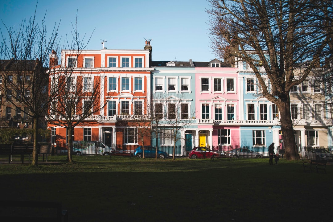 Some colorful houses