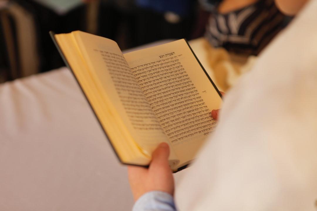 Jewish man reading the Torah.