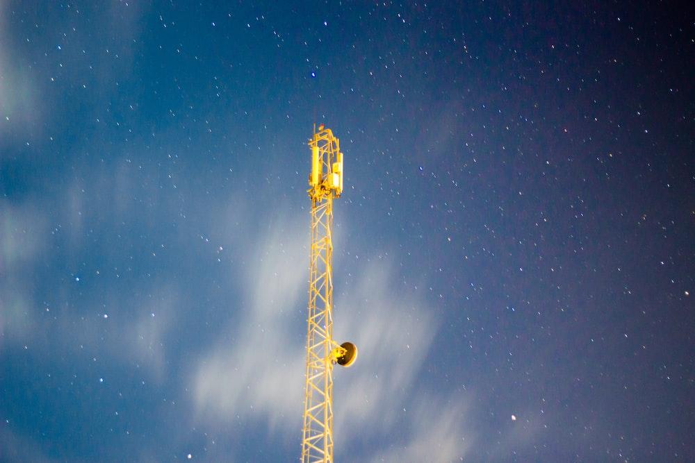 yellow metal tower