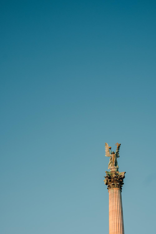 female angel standing statue
