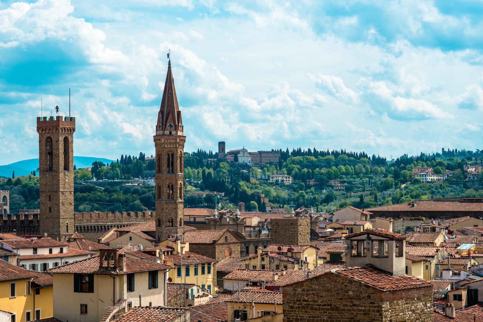 Vue sur les toits de Florence en Italie