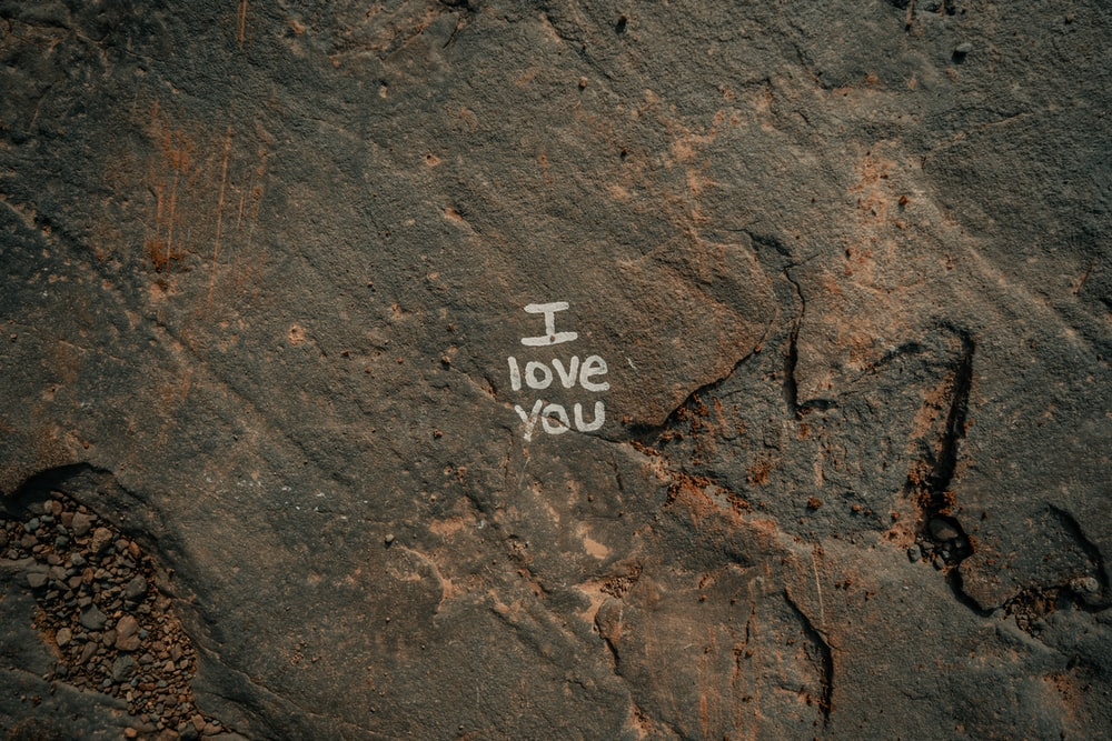 I love you-printed surface