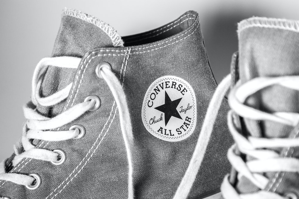 gray Converse All-Star high-top sneakers