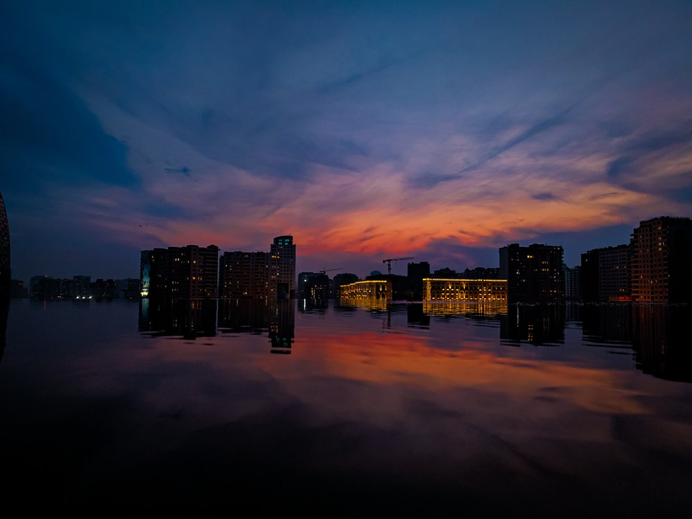 cityscape by water
