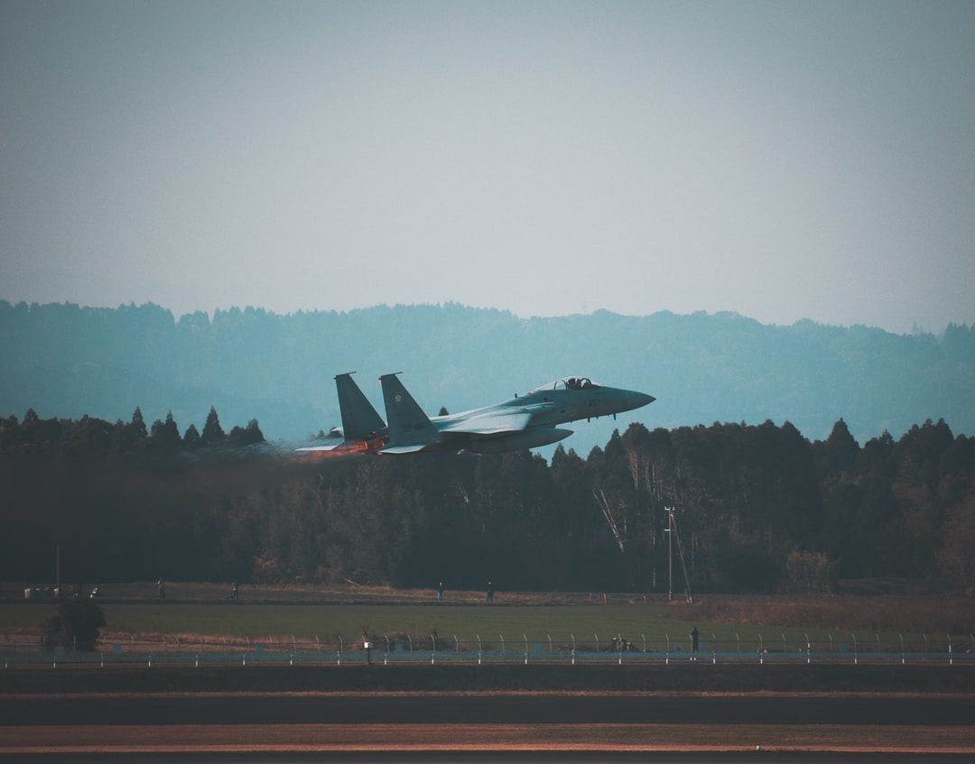 F-15 Japanese aircraft takes off.