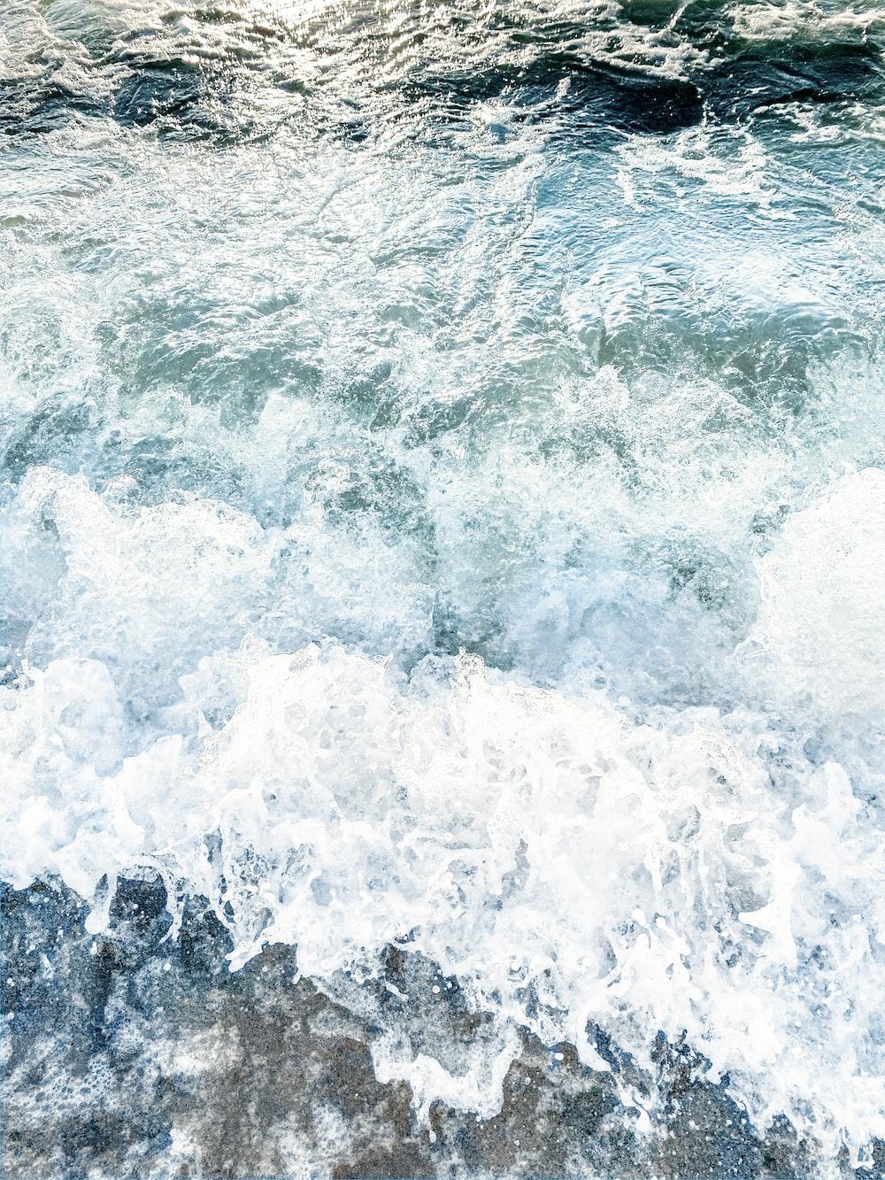 sea wave on shore