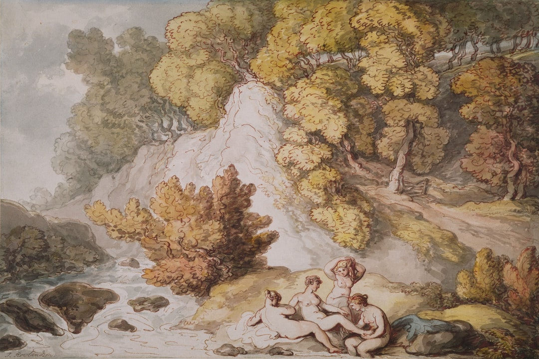 Landscape with Nymphs Bathing, 1795-1805 by Thomas Rowlandson