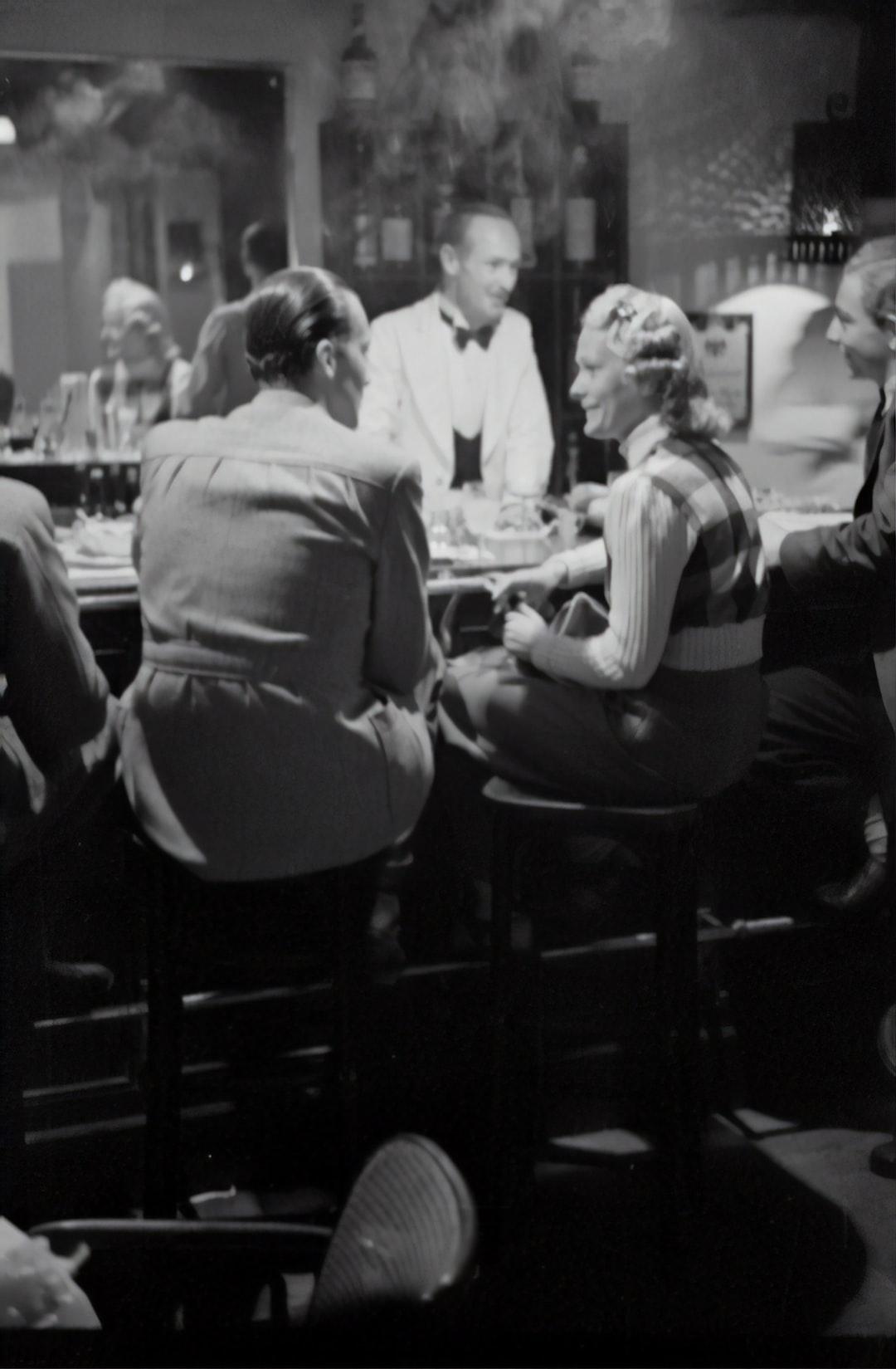 Apres ski at the bar, 1940