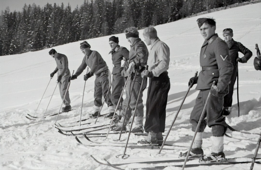 Ski course of the Air Force, 1940