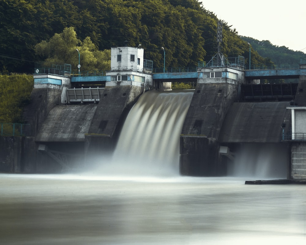 time lapse photography of dam