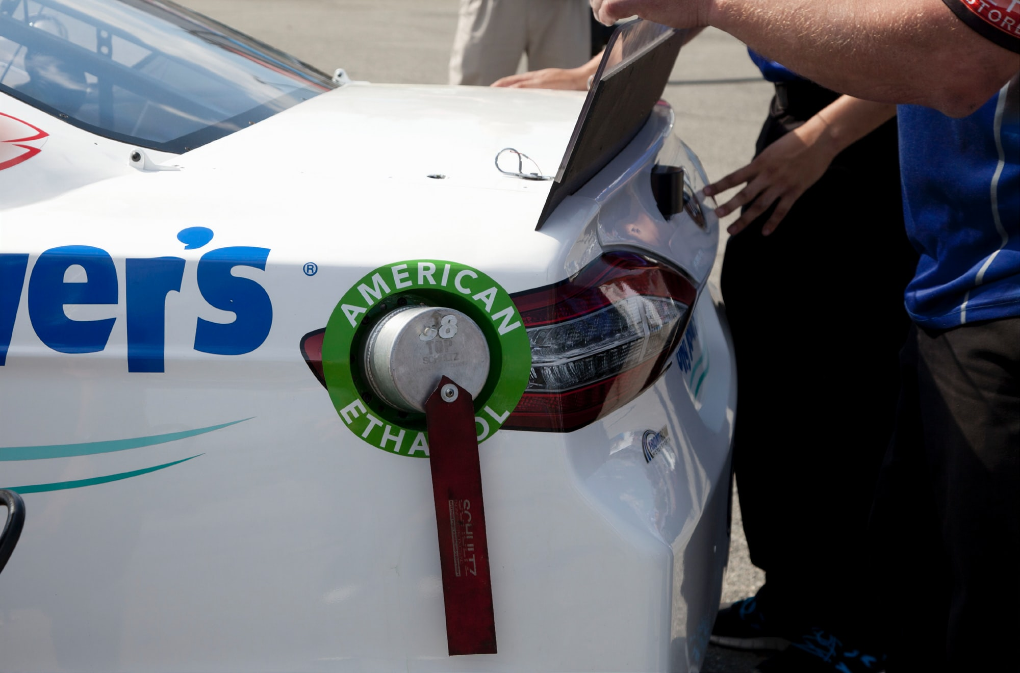 Since 2011, NASCAR has used E15 -- a biofuel blended with 15 percent American ethanol -- to fuel the cars. NASCAR has completed nearly 4 million miles using E15 and racing teams report an increase of up to 10+ horsepower. Photographer  Rebecca Matulka