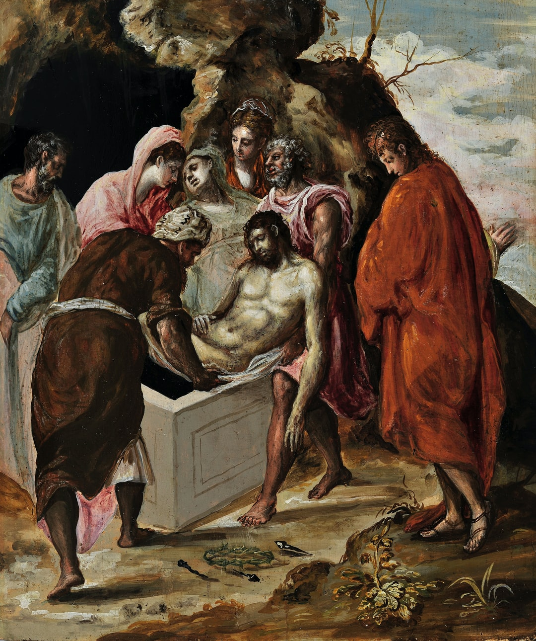 The Entombment of Christ by Greco. Provided by National Gallery - Alexandros Soutsos Museum.PD for Public Domain Mark