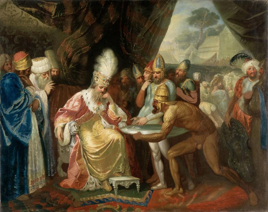 Scythian Messengers Meet the Persian King Darius I by Smuglewicz