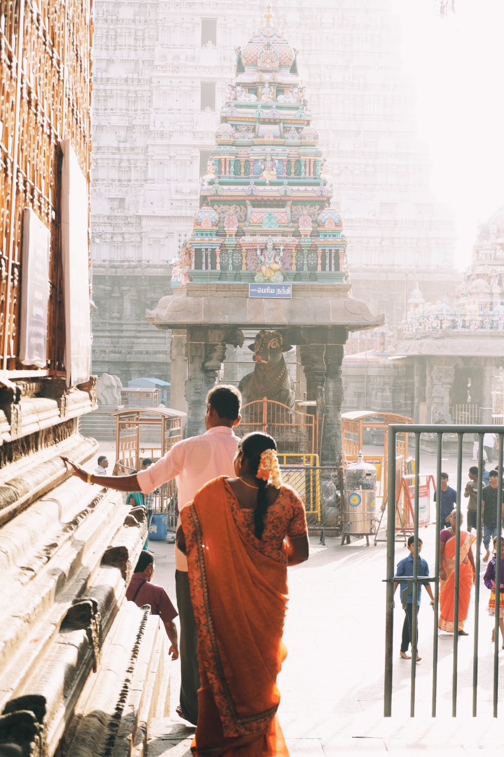 people near temple during daytime