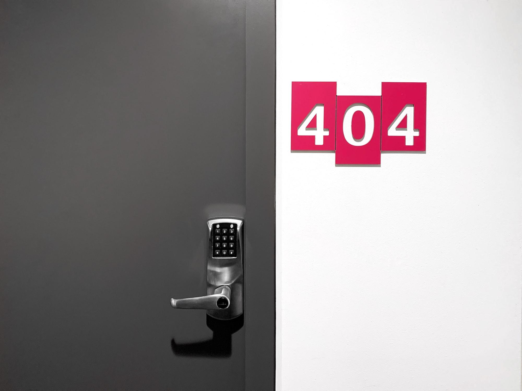 Door with 404