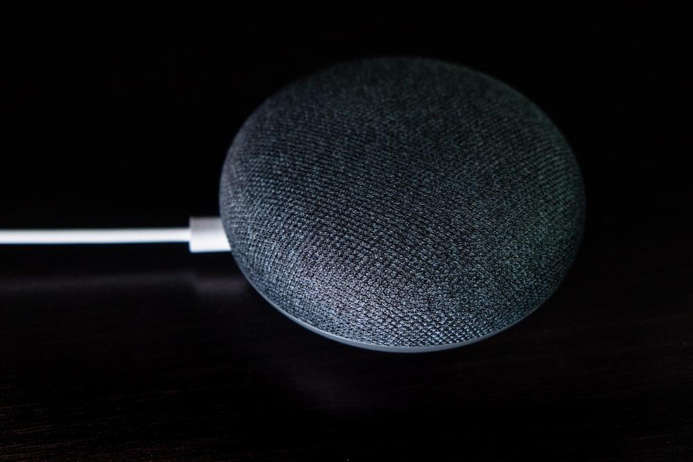 grey google mini speaker